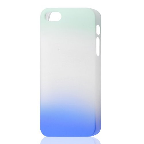 Gradient Sky Blue Gray Hard Case Cover voor de Apple iPhone 5 5G