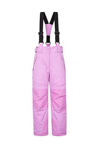 Mountain Warehouse Falcon El esquí Extremo de los Cabritos - los Fondos Grabados de Las Costuras, Pantalones de los niños Impermeables, Polainas Morado Claro 5-6 Años