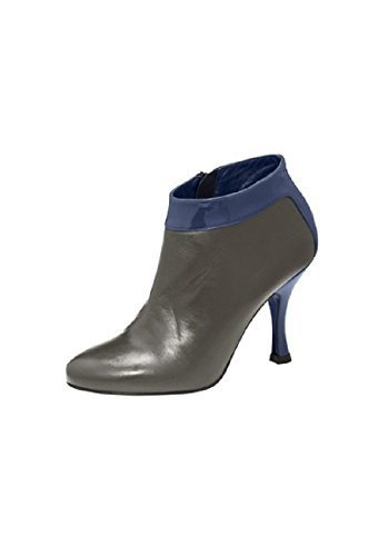 Bottines d'équitation en cuir verni de best connections Gris - Taupe