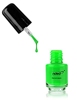 nded stamping varnish, Neon Green, 5 ml, middle viskos, green, air-curing