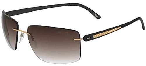 Silhouette occhiali da sole carbon t1 8686 gold/brown shaded uomo