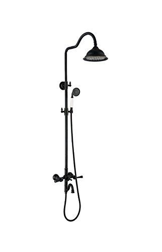 Colonne de Douchedouche robinet european cuivre thermostatique nuit douche bureau 3 fonction averse de pluie douche à main tête,un