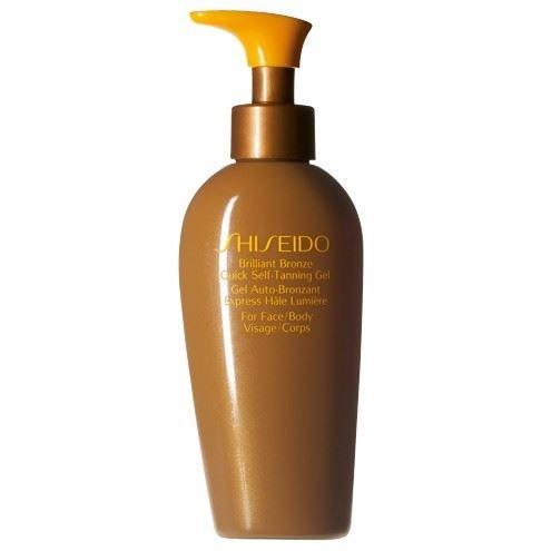 Shiseido bronzo brillante rapido autoabbronzante gel 150ml (confezione da 2)