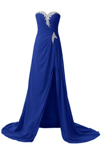 Sunvary elegante Chiffon A linea Sweetheart, formale sera, varie taglie Royal Blue