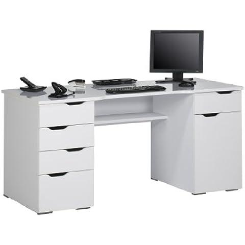 Scrittura E Tornio scrivania per computer, bianco, 0