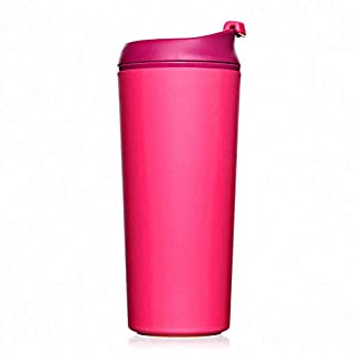 Artiart Do not Fall Vacuum Insulation Commuter Mugs with Handle,Interior Stainless, 11 oz,Indoor or Office Use (Pink)