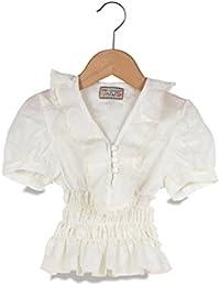 My Doll Camicetta Camicetta Bianco Con Larouche Tg. 5 Anni Bianco 5 anni  (110 88ee04d764e