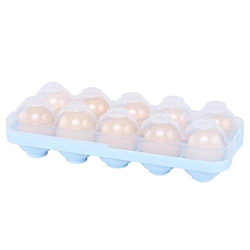 Eier-Halter, Hunpta Ei-Halter-Etui mit Kühlschrank Crisper-Behälter blau
