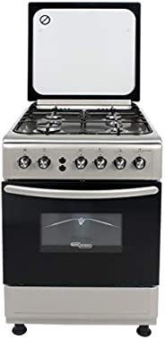 Super General 4 Burner Gas-Cooker/ Steel Cooker/Gas Oven/ Silver/ 60 x 60 x 85 cm/ SGC 6470MSFS