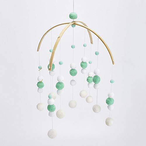 Windspiele Filz Ball Kinderzimmer Mobile Ornament Anhänger Hängende Decke Geschenk Foto Förderung Wohnkultur Handwerk Nette Kindergarten(Grün) (Wohnkultur)