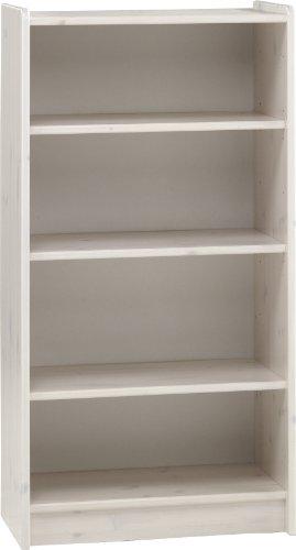 Steens For Kids Regal, 3 verstellbare Böden, 64 x 123 x 38 cm (B/H/T), Kiefer masssiv, weiß