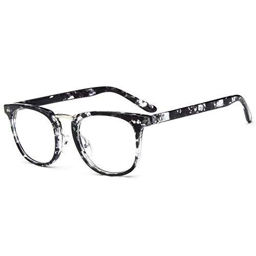 YMTP Frauen Optische Gläser Rahmen Frauen Brillen Rahmen Eyewear Square Klassischen Rahmen, Schwarz Floral
