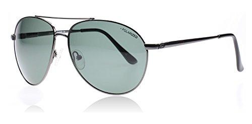 Preisvergleich Produktbild Dirty Dog 53286 Gunmetal Vango Aviator Sunglasses Polarised Lens Category 3 Lens Mirrored