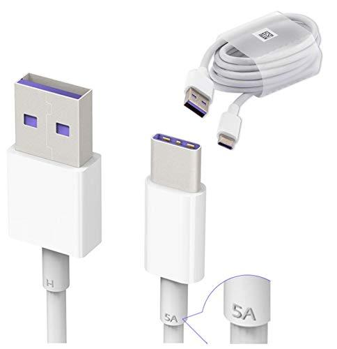 Kabel Asm (Original Huawei HL1289 5A USB 3.1 Typ C Superfast Ladekabel Datenkabel für P9/ Plus/ P10/ Plus/Mate 9/ Nova/ 2, Weiß (Großpackung, Frustfreie Verpackung))