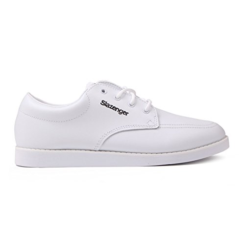 Slazenger Herren Bowling Schuhe Schnuerschuhe Freizeit Sneaker Turnschuhe Weiß 8 (42)