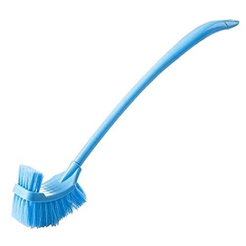ngem Griff, doppelseitig, für Toilettenreinigung, Tiefenreiniger, Werkzeug mit flexiblen Borsten blau ()