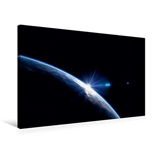 Calvendo Premium Textil-Leinwand 75 cm x 50 cm Quer, der Blaue Planet | Wandbild, Bild auf Keilrahmen, Fertigbild auf Echter Leinwand, Leinwanddruck Wissenschaft Wissenschaft