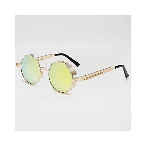 Sport-Sonnenbrillen, Vintage Sonnenbrillen, Metal Steampunk Sunglasses Men Women Fashion Round Glasses Vintage Sunglasses High Quality UV400 Eyewear Shades 08