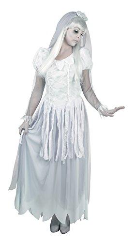 Boland 79035 - Erwachsenenkostüm Geister-Braut, Größe 40 / 42, weiß (Gespenst Damen Kostüm)