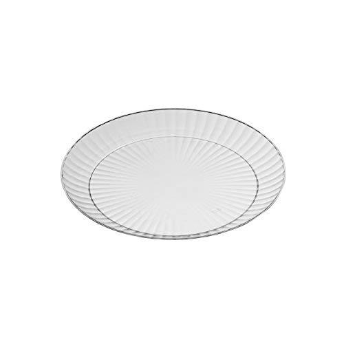 Mashers Kristalloptik Transparentes Plastik Einweg Party Abendessen Teller Vpe 20 - Durchsichtig, 7