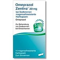 Omeprazol Zentiva 20 mg, Spar-Set 2x14 magensaftresistente Hartkapseln. Einzunehmen bei Sodbrennen. preisvergleich bei billige-tabletten.eu