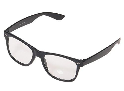 Partybrille 1980 Style Retro Atzen Wayfarer Nerdbrille Hornbrille,B01MK-K