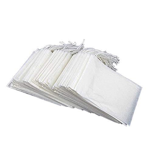 JER Kordelzug Tee Filterbeutel Einweg Non Woven Fabrics Leere Teebeutel, Sicherheit und Umwelt Teebeutel 100Stk homedeko