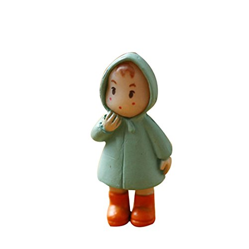Lindo mini miniatura chica artesanía ornamento hada jardín gnomos casa decoraciones naranja