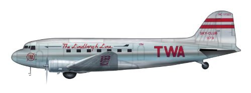 hobby-master-hl1303-douglas-dc-3-twa-lindbergh-line-1200-die-cast-model-by-airliners