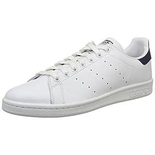 adidas Originals Unisex-Erwachsene Stan Smith Basketballschuhe, Running White/New Navy, 44 EU