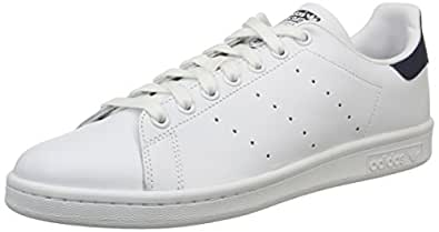 Adidas Originals Stan Smith - Baskets mode Mixte Adulte - Blanc (Running White/New Navy) - 41 1/3 EU