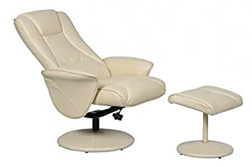 Naples Memory Foam Swivel Recliner Chair With Footstool - Cream Amazon.co. uk Health u0026 Personal Care  sc 1 st  Amazon UK : leather reclining chairs uk - islam-shia.org