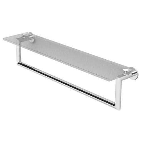 Ginger 4619T-24/PN - Kubic 24 Inch Shelf With Towel Bar, Plain Rosette - Polished Nickel Finish by Ginger - Nickel Rosette