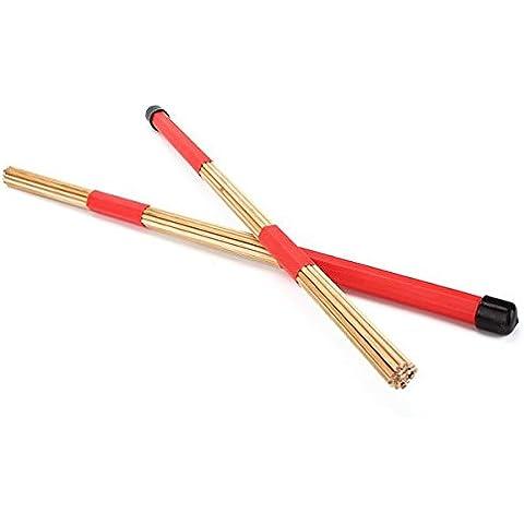 2pcs bambù tamburo spazzole bacchette spazzole 0,4m