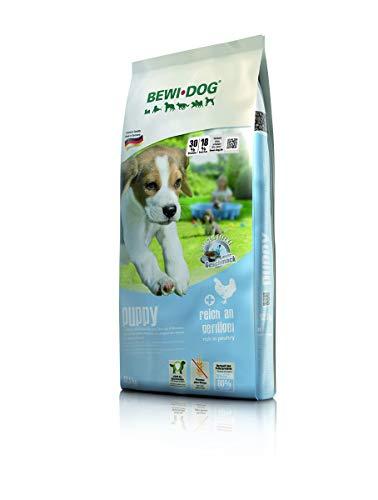 BEWI DOG Puppy [12,5 kg] Welpenfutter | Trockenfutter für Hundewelpen bis zum 4. Monat | ohne Weizen & Soja | 80% tierisches Eiweiß
