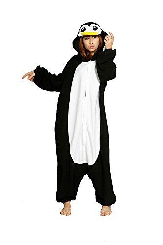 Samgu-Pinguin Tier Onesie Pyjama Kostüme Schlafanzug Erwachsene Unisex (L(Körpergröße:171-178cm)) (Pinguin-halloween-kostüm Kleinkind Für)