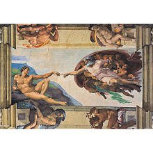 Clementoni 31402 - Michelangelo: Die Erschaffung des Adam - Puzzle 1000 Teile