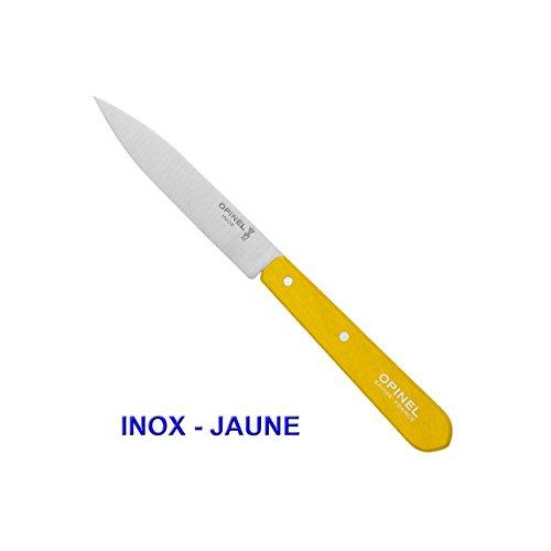 OPINEL COUTEAU D'OFFICE N°112 LAME LISSE INOX OU CARBONE/COULEUR AU CHOIX - Jaune