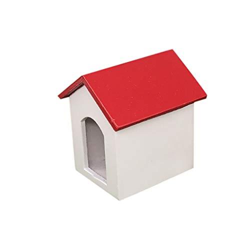 Baslinze Puppenhaus Holz Puppen 1:12 Puppenhaus Garten Miniatur Holz Zwinger HundehüTte Kinder So Tun, Als Spielen Spielzeug