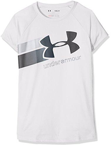 Under Armour Mädchen Fitness T-Shirt Fast Lane SS T Tanks, White, XL