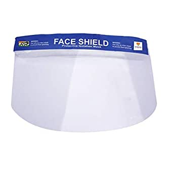 Reusable Safety Face Shield, 5 Pcs Anti-fog Full Face Shield, Universal Face Protective Visor for Eye Head Protection, Anti-Spitting Splash Facial Cover for Women, Men(Get it within 7 Business days)