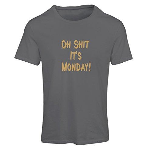 N4068F T-shirt female Oh shit its Monday gift Grigio Oro