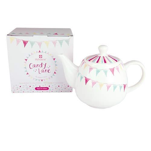 Ashdene - Candy Lane - Porzellankrug new bone china Krug mit Tee-Ei 13,5x19,5x11cm 0,65l ASHDENE, Australia 16535 Lane Bone China