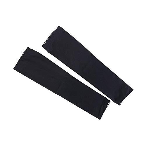 ühl Sun Sleeves UV-Schutz Compression Arme Sleeve Perfekt für Tattoo Cover Outdoor Sport Zubehör (Schwarz) ()