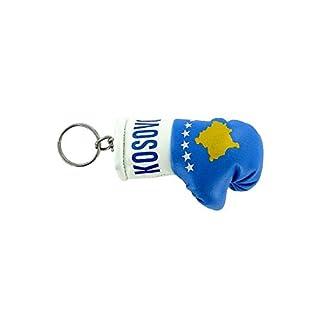 Akacha Keys Key Flag Kosovo Kosovar Flag Boxing Glove Key Ring,