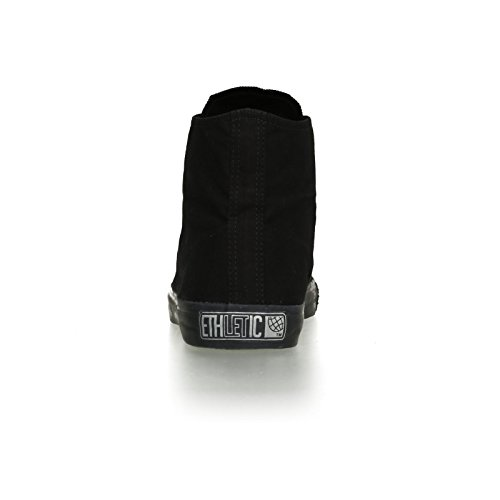 Ethletic Black Cap HiCut / High-Sneaker aus Bio-Baumwolle in schwarz – fair & nachhaltig - 4