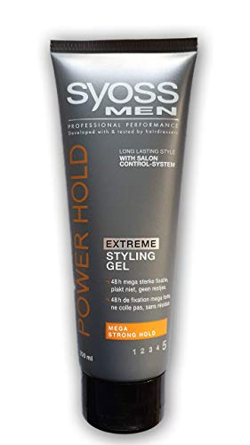 Syoss Men/Power Hold Extreme Styling Gel 250ml - Extreme Hold Gel