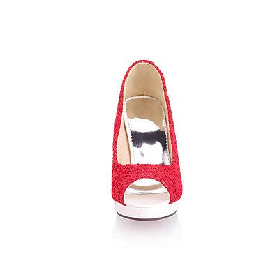 LYNXL Talloni delle donne Primavera Estate Autunno Dress Altro Tulle Party & Sera casuale tacco grosso Nero Rosa Bianco Beige Red