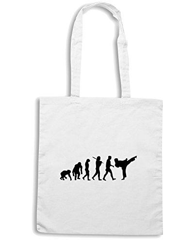 T-Shirtshock - Borsa Shopping TAM0026 development of martial arts mens tshirt Bianco