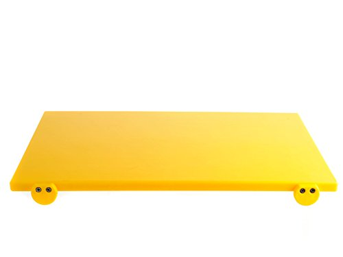 BERTOLI Tagliere plastica giallo con batterie 60x40x2 Accessori da cucina